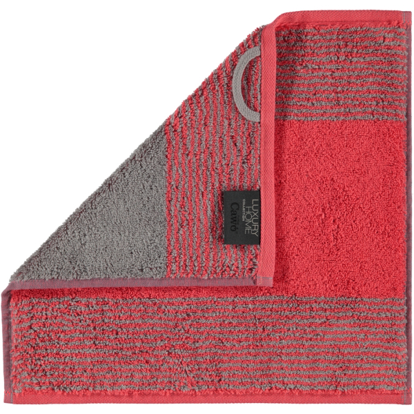 Cawö - Luxury Home Two-Tone 590 - Farbe: rot - 27 Seiflappen 30x30 cm