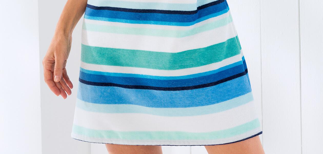Cawö - Strandkleid Frottier 9301 - Farbe: aqua - 14 M Detailbild 3