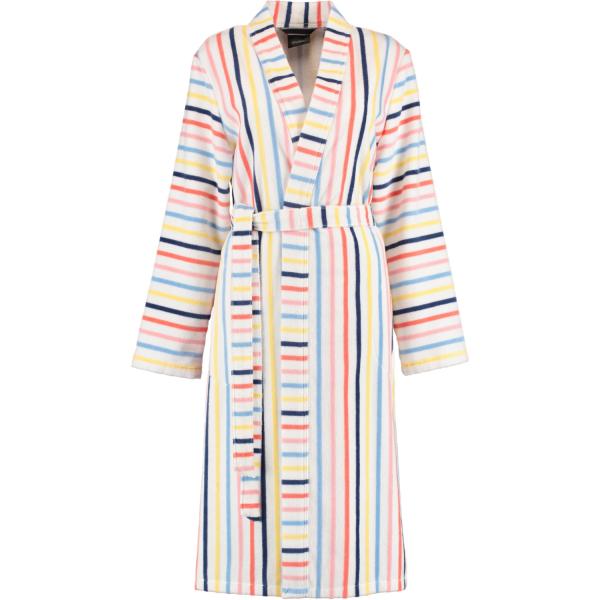 Cawö Damen Bademantel Kimono 3343 - Farbe: weiß-multicolor - 62
