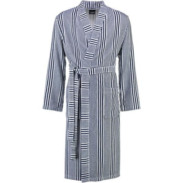 Cawö - Herren Bademantel Kimono 5805 - Farbe: marine-weiß - 16
