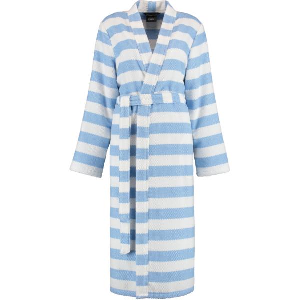 Cawö Damen Bademantel Kimono 1241 - Farbe: bleu - 16