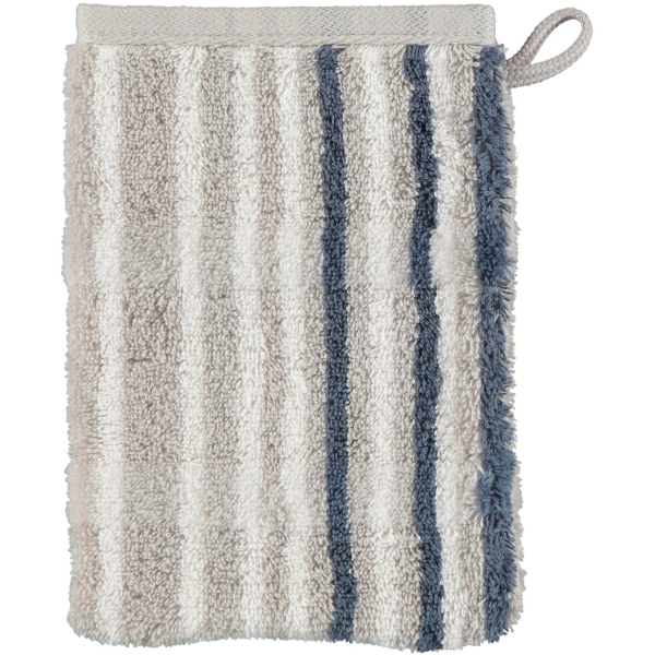 Cawö - Noblesse Lines 1082 - Farbe: platin - 76 Waschhandschuh 16x22 cm