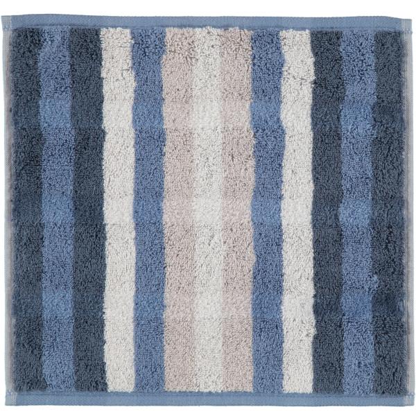 Cawö - Noblesse Interior Streifen 1081 - Farbe: nachtblau - 11 Seiflappen 30x30 cm