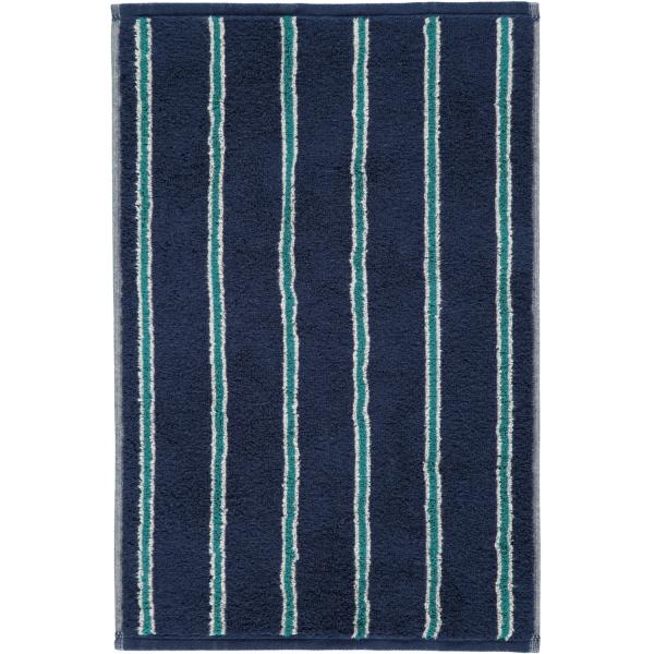 Cawö Polo Streifen 365 - Farbe: navy - 14 Gästetuch 30x50 cm