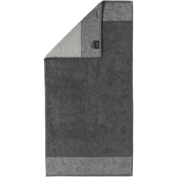 Cawö - Luxury Home Two-Tone 590 - Farbe: schiefer - 77 Handtuch 50x100 cm