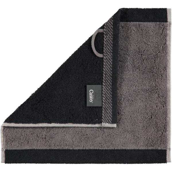 Cawö Plaid Doubleface 7070 - Farbe: anthrazit - 79 Seiflappen 30x30 cm
