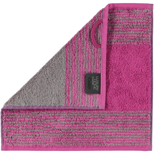 Cawö - Luxury Home Two-Tone 590 - Farbe: beere - 87 Seiflappen 30x30 cm