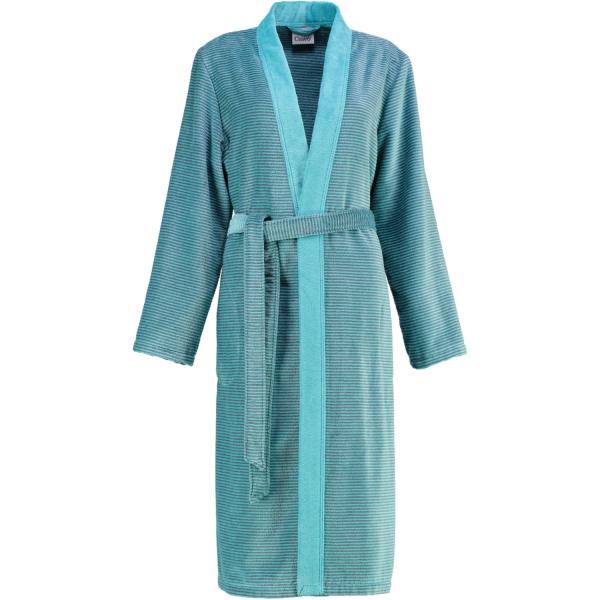 Cawö - Damen Bademantel Two-Tone Kimono 6431- Farbe: türkis - 47