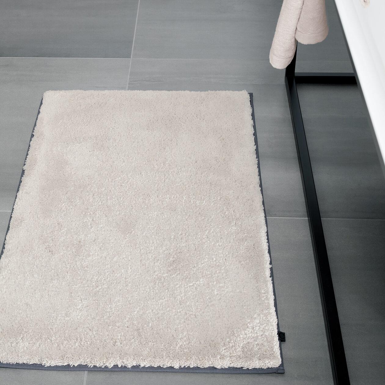 Cawö Home Badteppich Frame 1006 - Farbe: weiß - 600 70x120 cm Detailbild 3