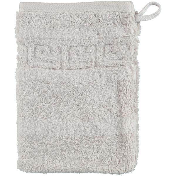 Cawö - Noblesse Uni 1001 - Farbe: 775 - silber Waschhandschuh 16x22 cm