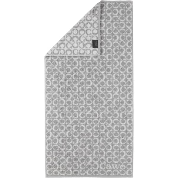 Cawö - Luxury Home Two-Tone C-Allover 605 - Farbe: platin - 76 Handtuch 50x100 cm