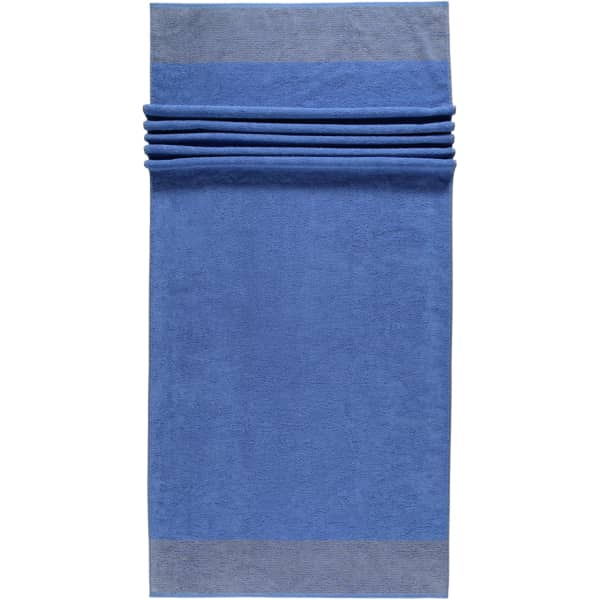 Cawö - Luxury Home Two-Tone 590 - Farbe: blau - 17 Saunatuch 80x200 cm