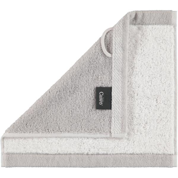 Cawö Plaid Doubleface 7070 - Farbe: weiß - 76 Seiflappen 30x30 cm