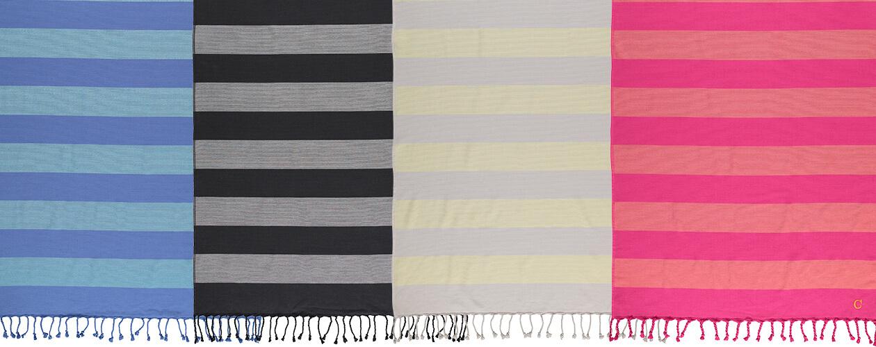 Cawö - Badetuch Code Hamam Blockstreifen 5503 - 90x180 cm - Farbe: lemon - 75 Detailbild 3