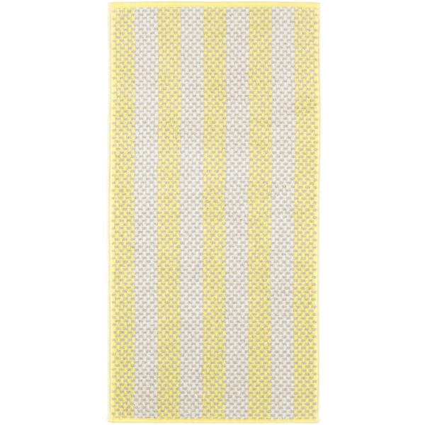 Cawö Reed Streifen 957 - Farbe: lemon - 57 Handtuch 50x100 cm