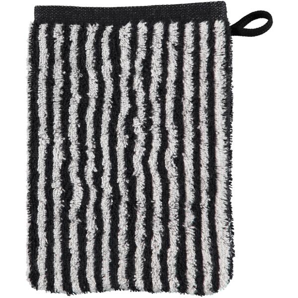 Cawö Zoom Streifen 121 - Farbe: schwarz - 97 Waschhandschuh 16x22 cm