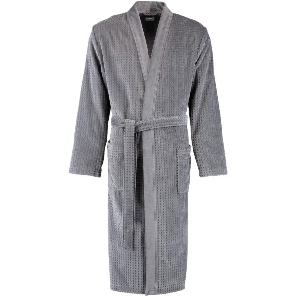 Cawö - Herren Bademantel Kimono 6511 - Farbe: stein-anthrazit - 79 S