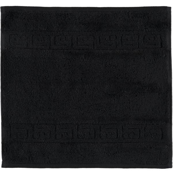Cawö - Noblesse Uni 1001 - Farbe: schwarz - 906 Seiflappen 30x30 cm