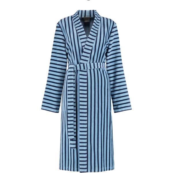 Cawö Damen Bademantel 3339 Kimono - Farbe: blau - 11 M