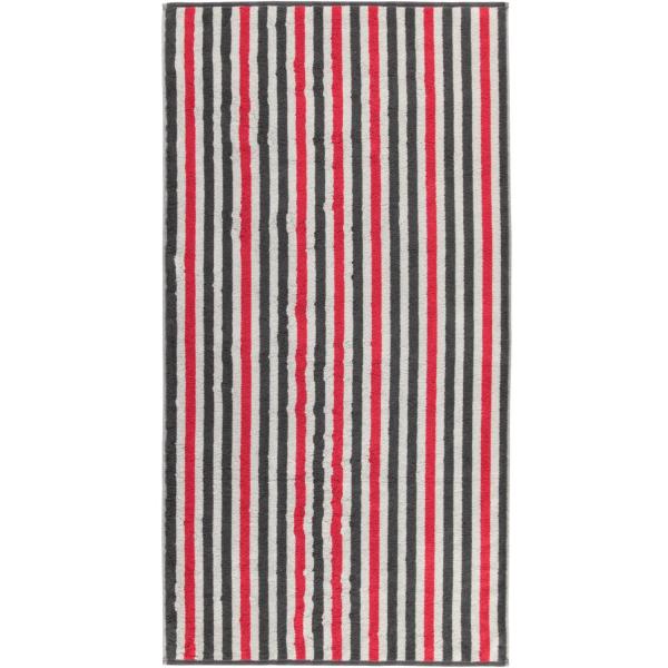 Cawö Tape Streifen 103 - Farbe: anthrazit-rot - 27 Duschtuch 70x140 cm