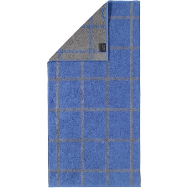 Cawö - Luxury Home Two-Tone Grafik 604 - Farbe: blau - 17 Handtuch 50x100 cm