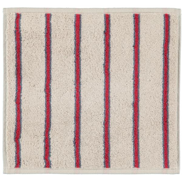 Cawö Polo Streifen 365 - Farbe: travertin - 32 Seiflappen 30x30 cm