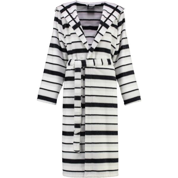 Cawö - Damen Bademantel Kapuze 4330 - Farbe: schwarz-weiß - 76