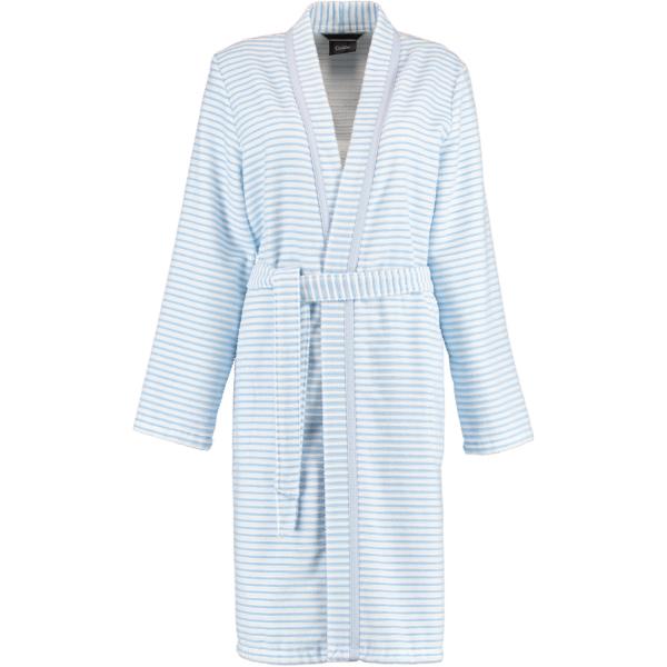 Cawö - Damen Bademantel Kurz Kimono 1214 - Farbe: mittelblau - 11 XS