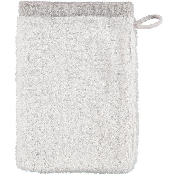 Cawö Plaid Doubleface 7070 - Farbe: weiß - 76 Waschhandschuh 16x22 cm