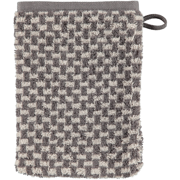 Cawö Reed Allover 956 - Farbe: anthrazit - 77 Waschhandschuh 16x22 cm