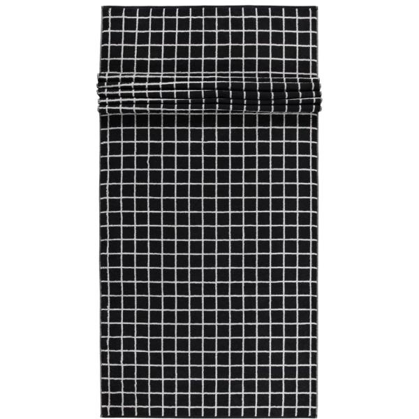 Cawö Zoom Karo 123 - Farbe: schwarz - 97 Saunatuch 80x200 cm