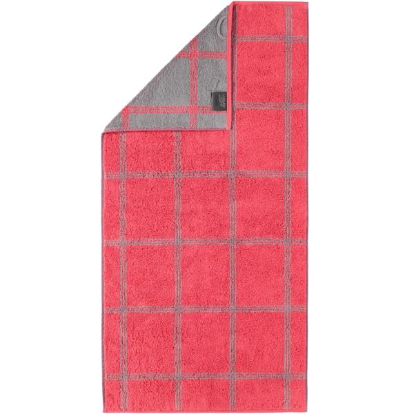 Cawö - Luxury Home Two-Tone Grafik 604 - Farbe: rot - 27 Handtuch 50x100 cm