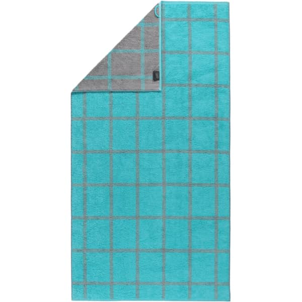 Cawö - Luxury Home Two-Tone Grafik 604 - Farbe: türkis - 47 Duschtuch 80x150 cm