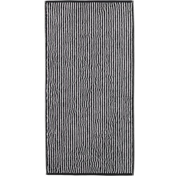 Cawö Zoom Streifen 121 - Farbe: schwarz - 97 Handtuch 50x100 cm
