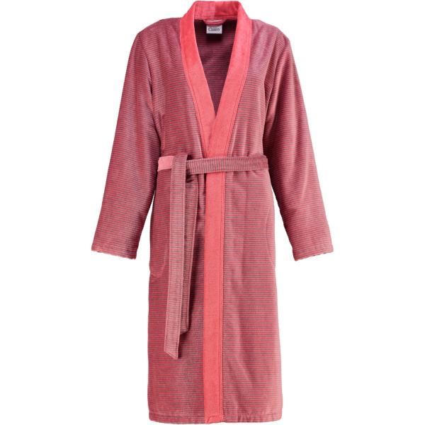 Cawö - Damen Bademantel Two-Tone Kimono 6431- Farbe: rot - 27 L