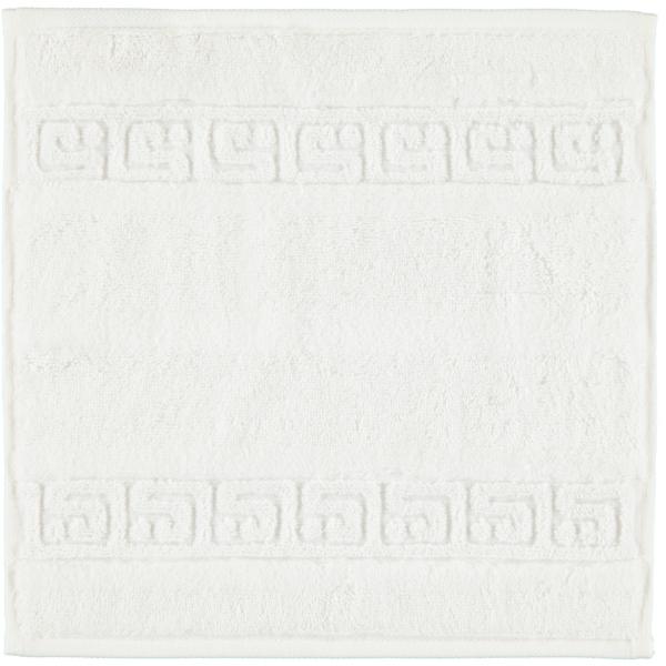 Cawö - Noblesse Uni 1001 - Farbe: 600 - weiß Seiflappen 30x30 cm