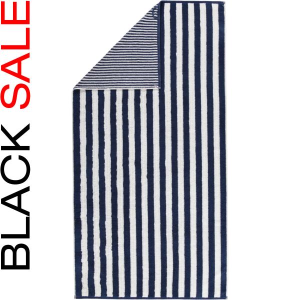 Cawö Black Sale Wendestreifen 186 - Farbe: blau - 16 Duschtuch 70x140 cm