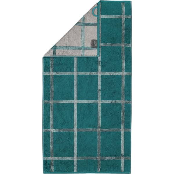 Cawö - Luxury Home Two-Tone Grafik 604 - Farbe: smaragd - 44 Handtuch 50x100 cm