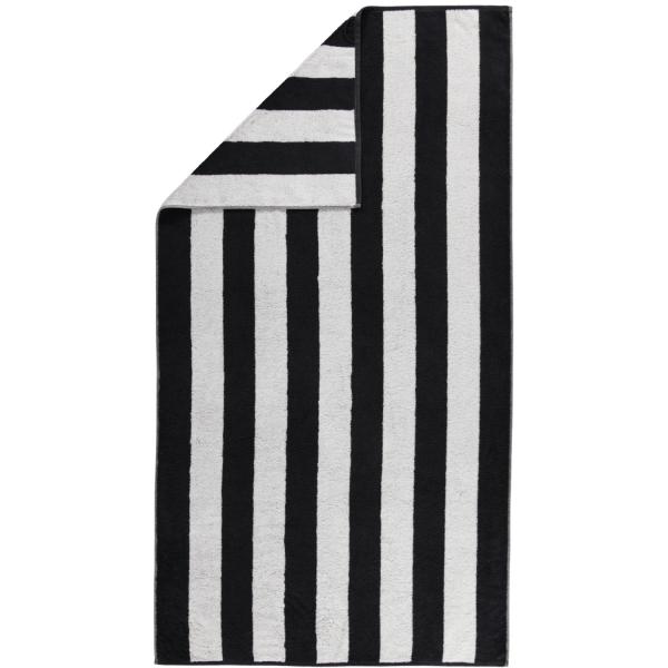 Cawö Zoom Blockstreifen 120 - Farbe: schwarz - 97 Duschtuch 70x140 cm
