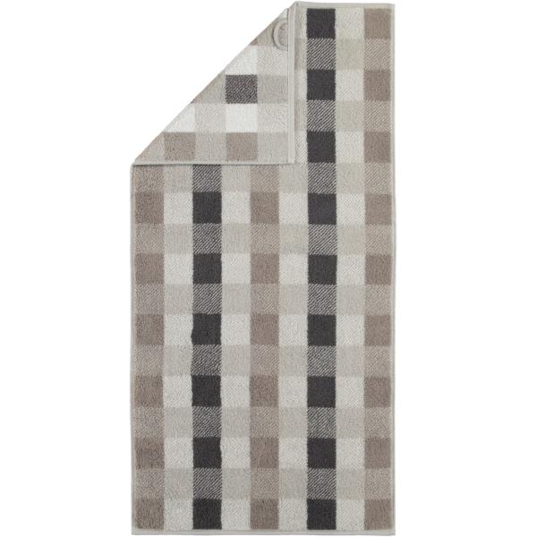 Cawö Check 770 - Farbe: platin - 77 Handtuch 50x100 cm