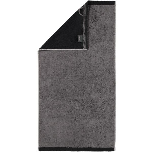 Cawö Plaid Doubleface 7070 - Farbe: anthrazit - 79 Handtuch 50x100 cm