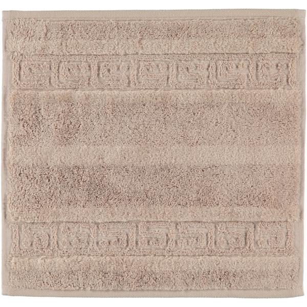Cawö - Noblesse Uni 1001 - Farbe: 375 - sand Seiflappen 30x30 cm