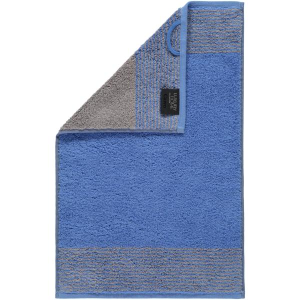 Cawö - Luxury Home Two-Tone 590 - Farbe: blau - 17 Gästetuch 30x50 cm