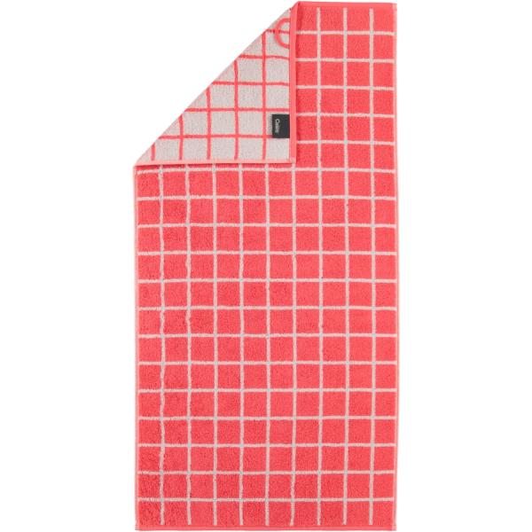 Cawö Campus Karo 959 - Farbe: watermelon - 20 Duschtuch 70x140 cm