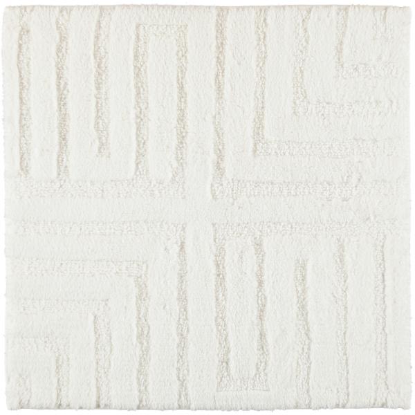Cawö Home - Badteppich Struktur 1004 - Farbe: weiß - 600 60x60 cm