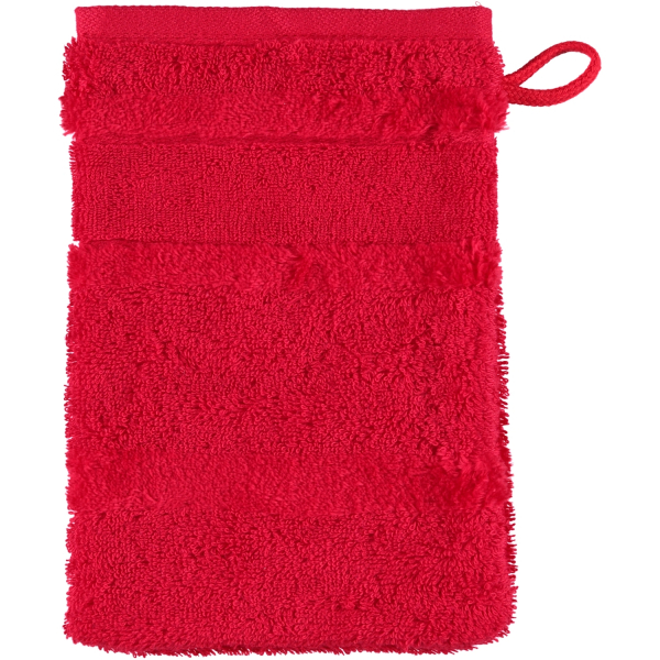 Cawö - Noblesse2 1002 - Farbe: rot - 203 Waschhandschuh 16x22 cm