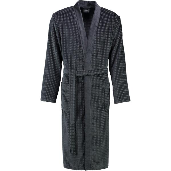 Cawö Herren Bademantel Kimono 3714 - Farbe: anthrazit - 774 L