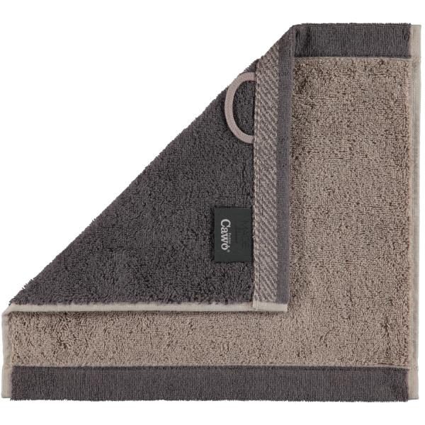 Cawö Plaid Doubleface 7070 - Farbe: graphit - 77 Seiflappen 30x30 cm