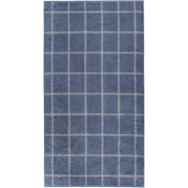 Cawö - Luxury Home Two-Tone Grafik 604 - Farbe: nachtblau - 10 Duschtuch 80x150 cm