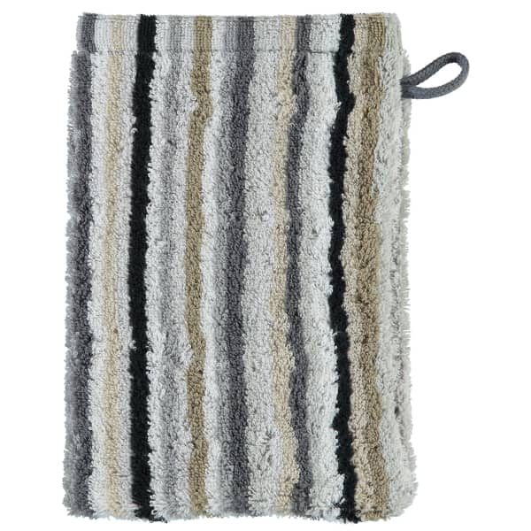 Cawö - Life Style Streifen 7048 - Farbe: 37 - kiesel Waschhandschuh 16x22 cm